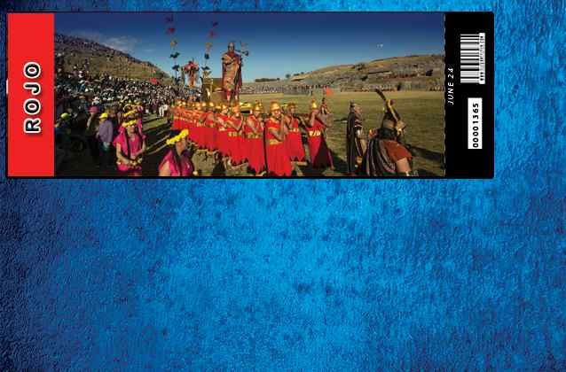 Inti Raymi 2020 ticket. Red section